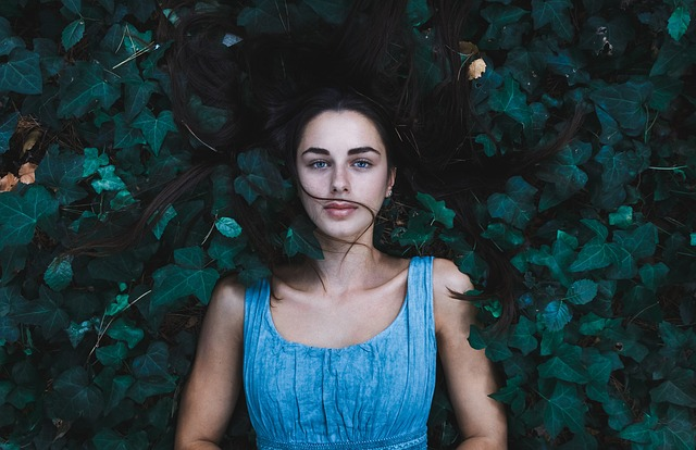 woman surrounded by ivy